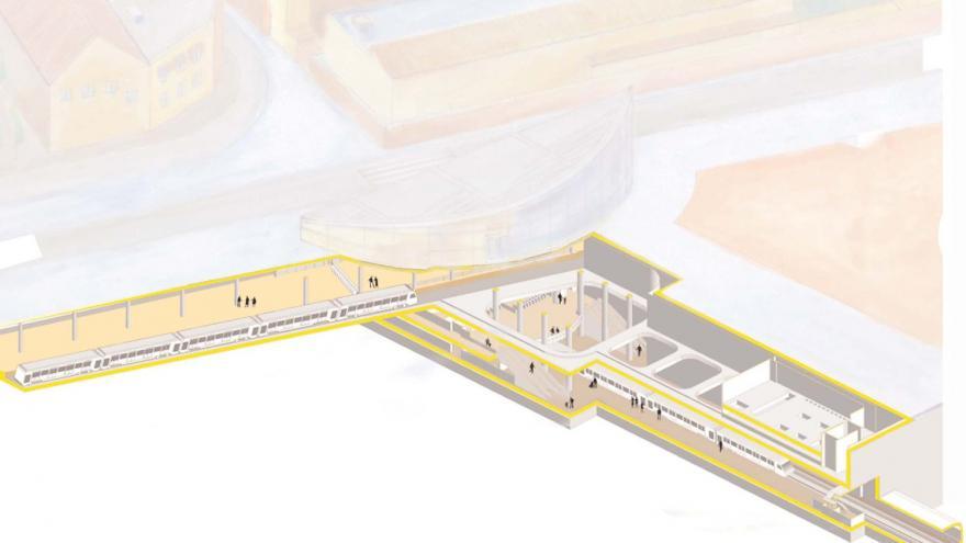Esquema de la estación Getafe Central