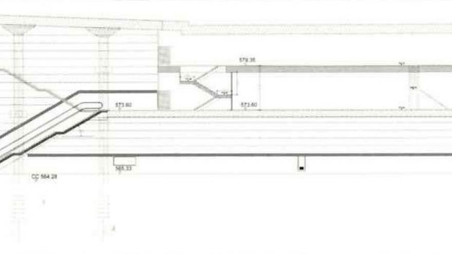Plano sección longitudinal
