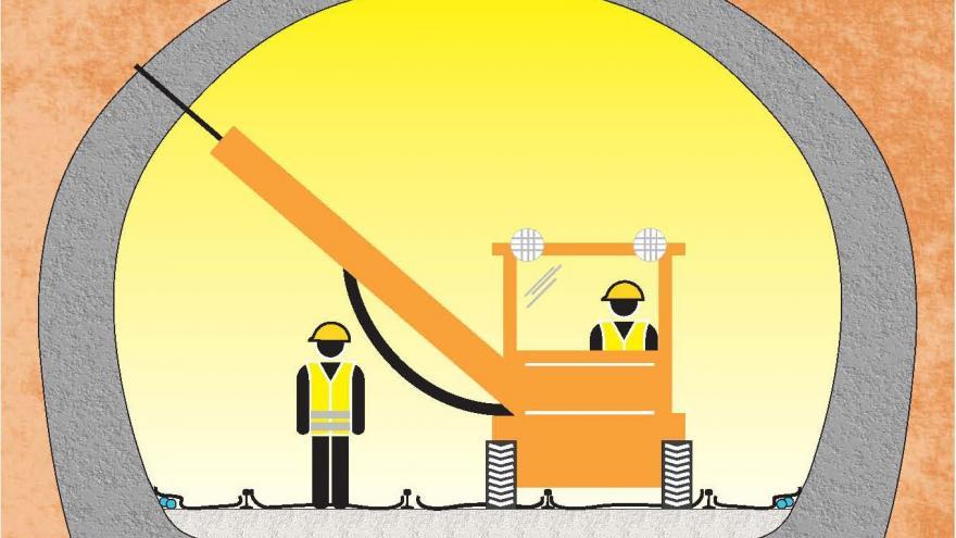 Fase 4, perforación del túnel