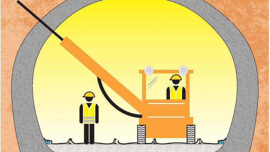 Consolidación del túnel, Fase 6, Perforación de drenes californianos