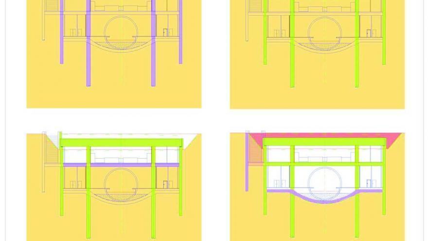 Esquema con las fases del proceso constructivo de una estación