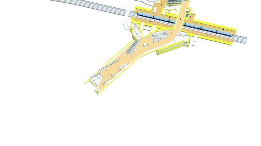 Esquema del nivel intermedio de conexión entre líneas