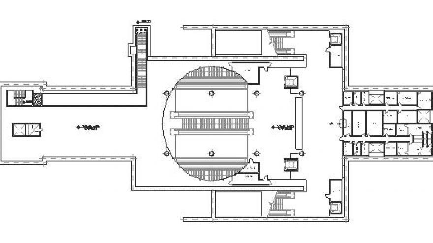 Planta general del nivel vestíbulo de la estación San Fermín-Orcasur