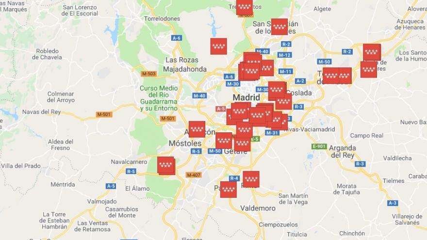 mapa emprendedores y artistas