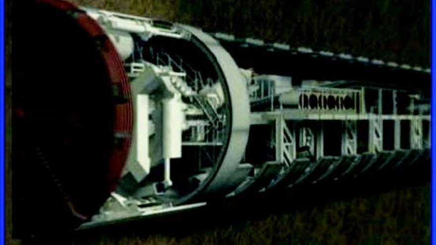 Simulación del interior de la tuneladora