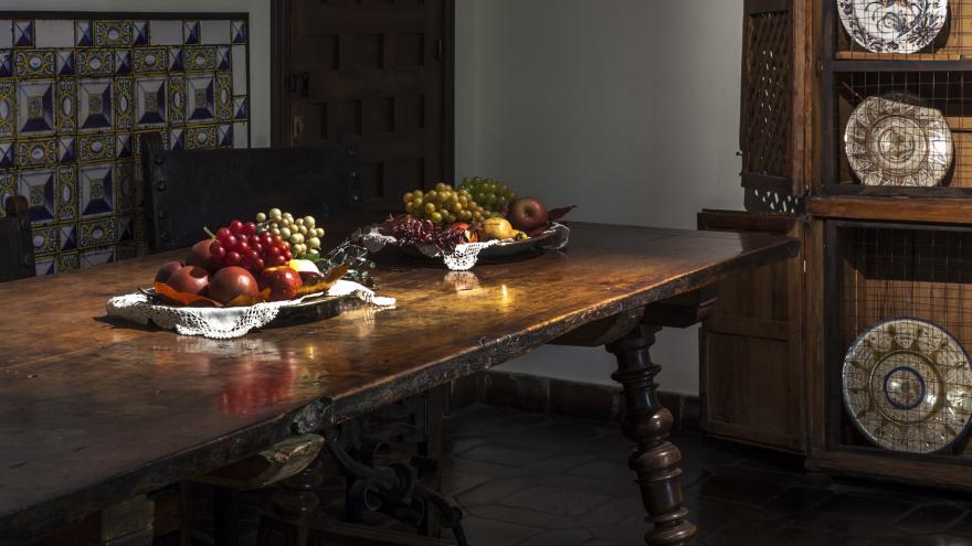 Sala aderezada para comer