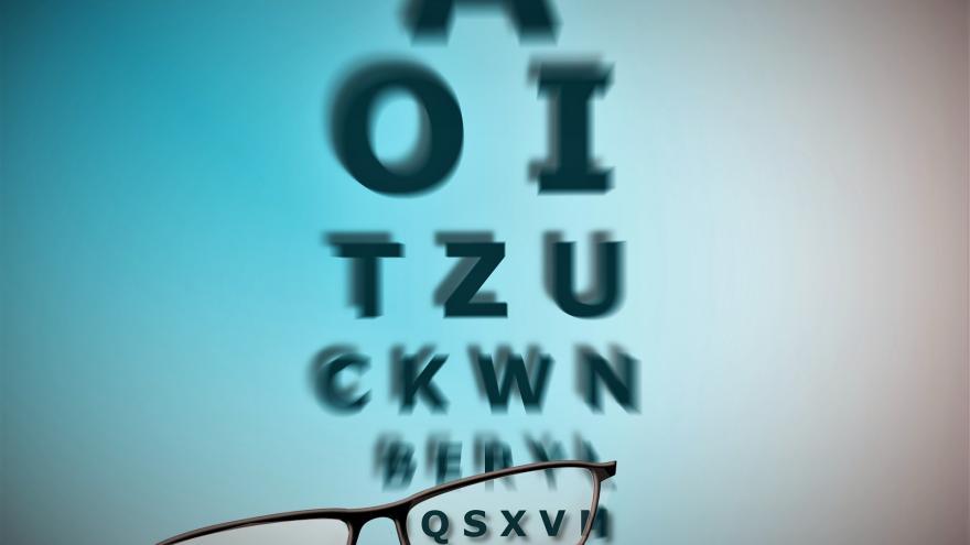 Panel de letras para graduar la vista