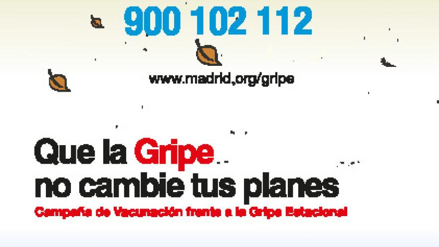 imagen del cartel de la campaña de vacunación antigripal