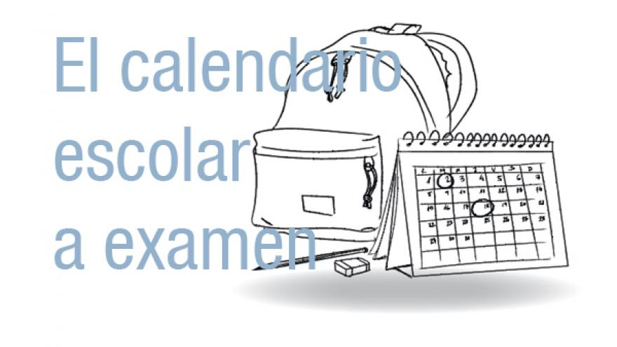 el calendario escolar a examen