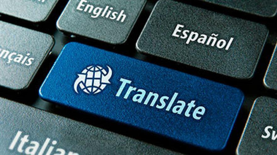 """Teclado de ordenador con una tecla con el texto """"Translate"""""""