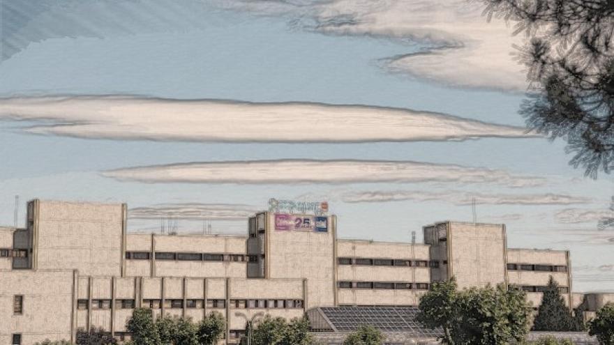Fachada del Hospital.