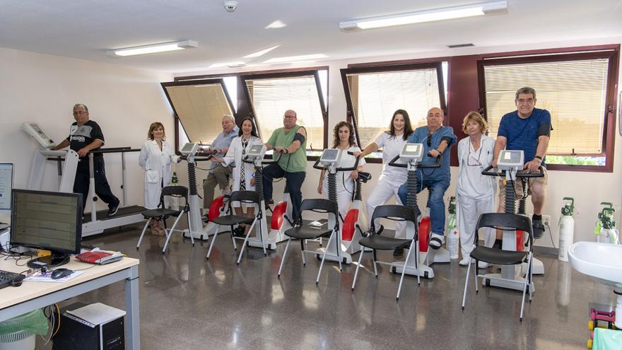 Profesionales y pacientes de rehabilitación respiratoria