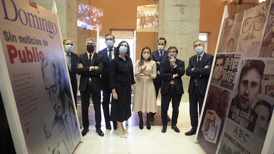 Díaz Ayuso en la inauguración de la exposición en la Real Casa de Correos