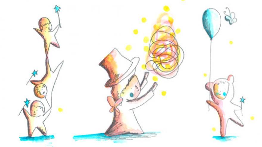 Personajes de circo dibujados por Aitor Saraiba