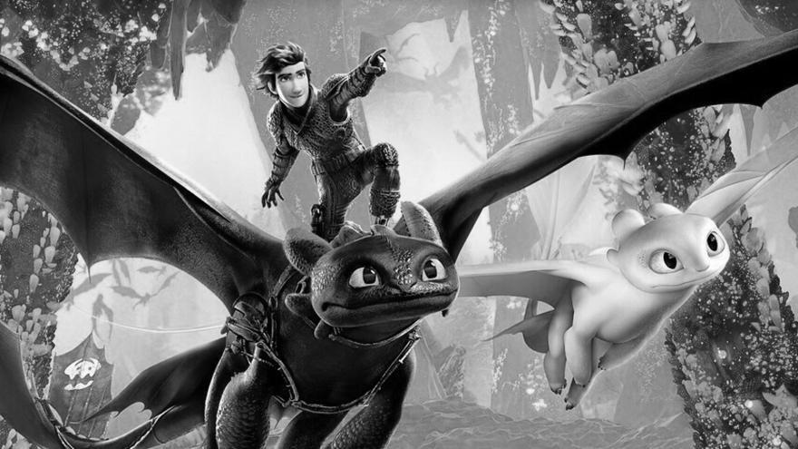 imagen en la que se ve al protagonista subido al dragón