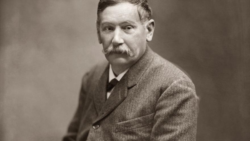 Galdós retratado por Kaulak en 1905