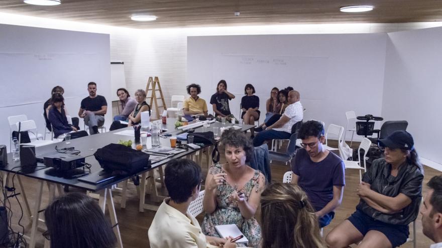 Participantes en talleres de la Sala El Águila