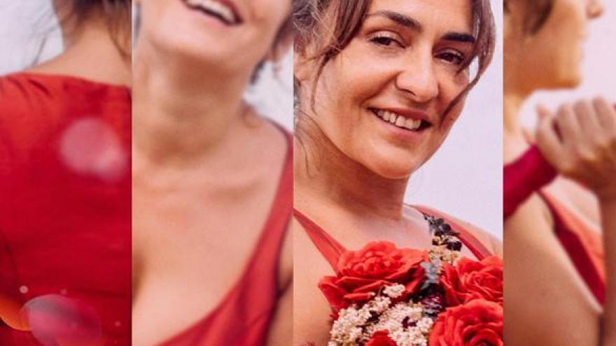 imagen del cartel de la película La boda de Rosa donde se ven varias imagenes en collage de la protagonista