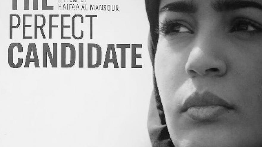 imagen del cartel de la pelicula candidata perfecta en la que se ve un primer plano de la actriz
