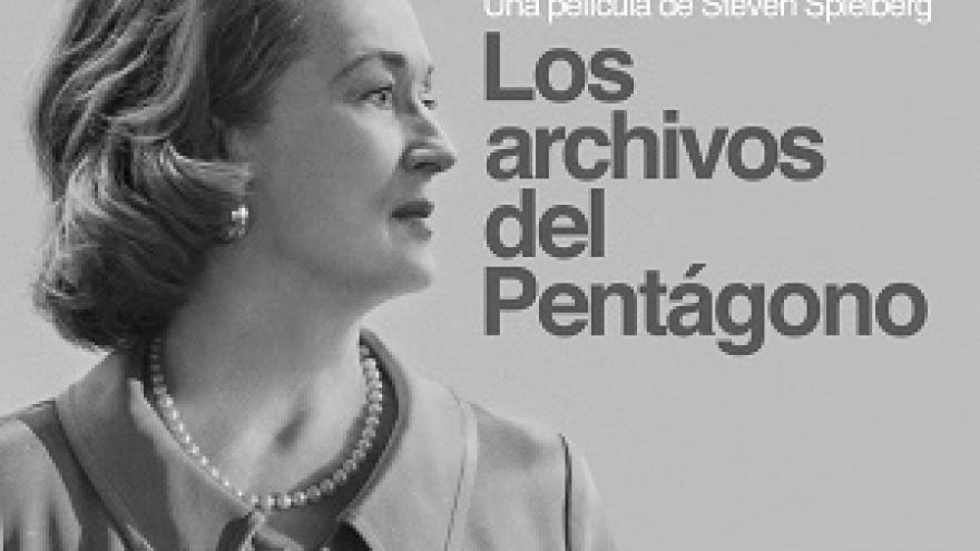 imagen del cartel de la película Los archivos del Pentágono donde se puede ver a Meryl Streep