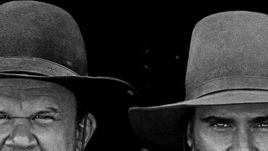 imagen del cartel de la película Los hermanos sisters en la que se ven la cara de dos de los protagonistas