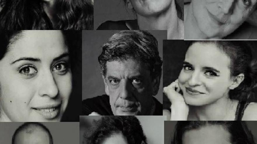 imagen tipo collage de todos los actores que participan en Mariana Pineda