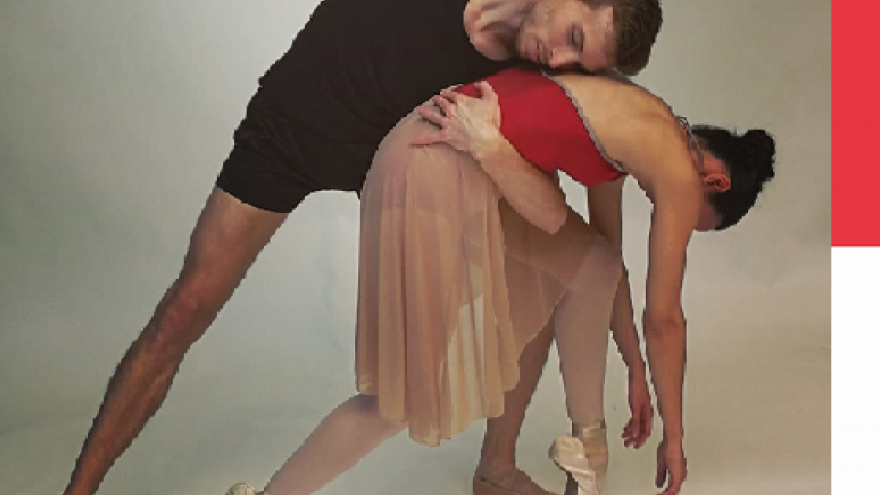 imagen en la que se ve a un bailarín cogiendo de la cintura a una bailarina