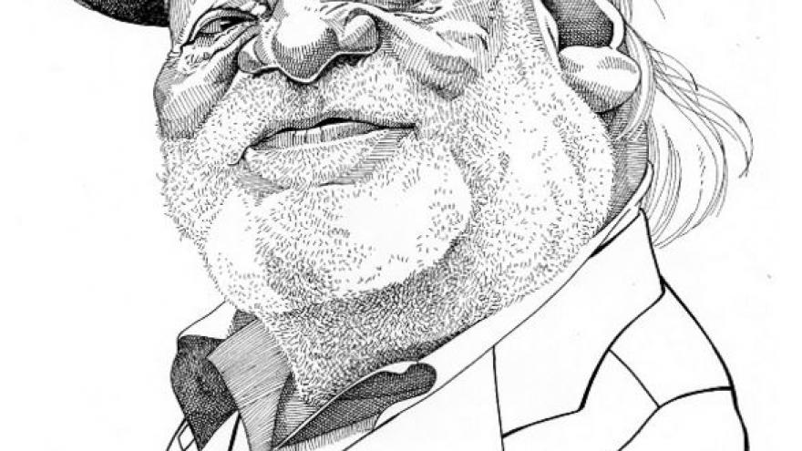 imagen de una caricatura realizada por Osvaldo Pérez D'elias
