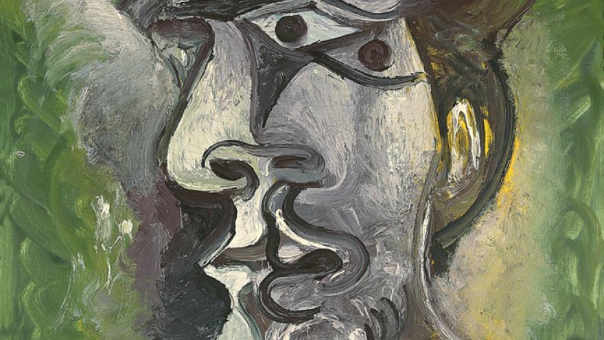 Pintura del rostro de un hombre
