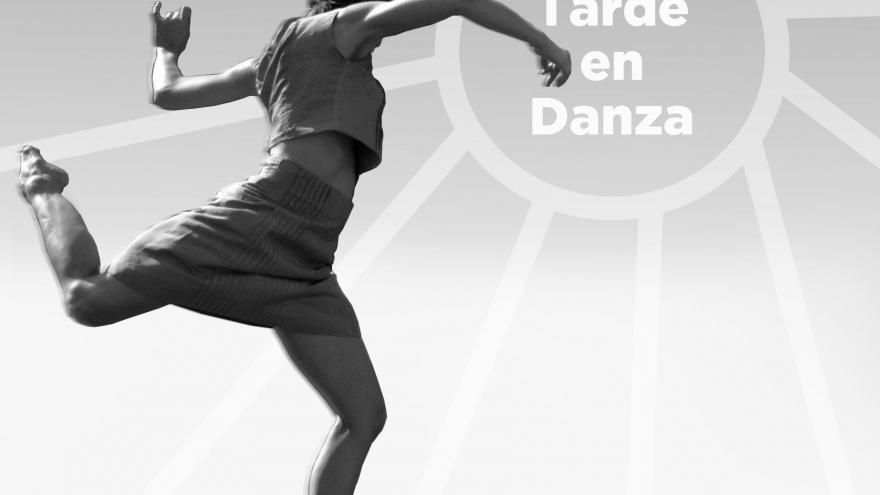 Imagen de una bailarina bailando sobre un escenario promocionando Una tarde en danza