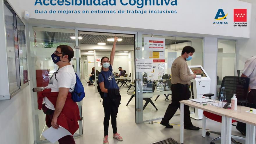 Trabajadores en el centro de trabajo