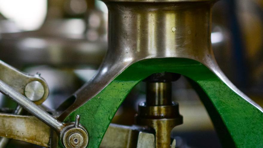 Pieza de una máquina industrial