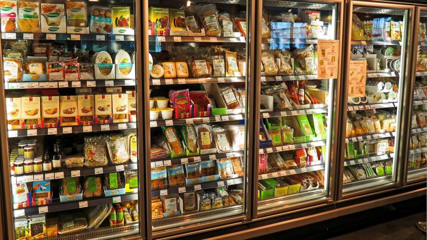 Camara frigorífica expositora de un supermercado