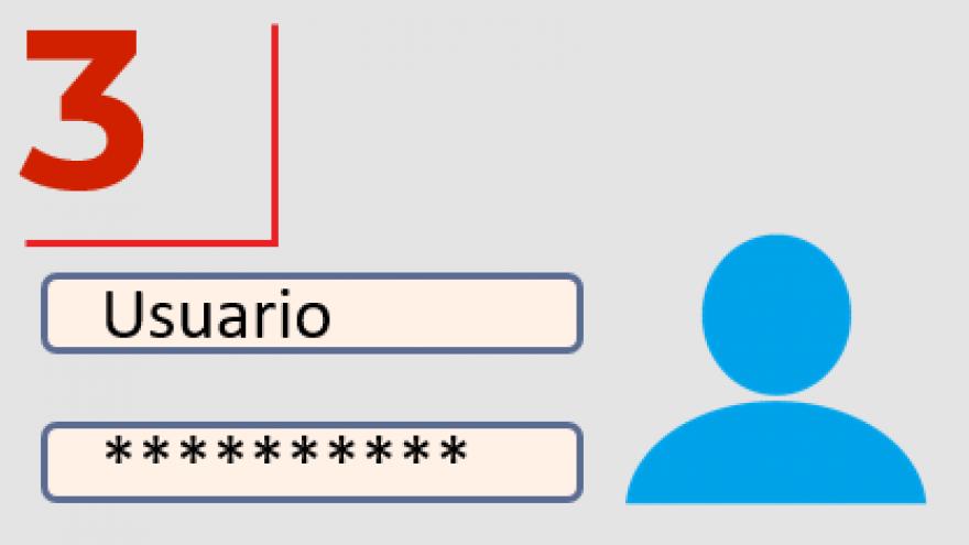 Icono para acceso mediante usuario y contraseña