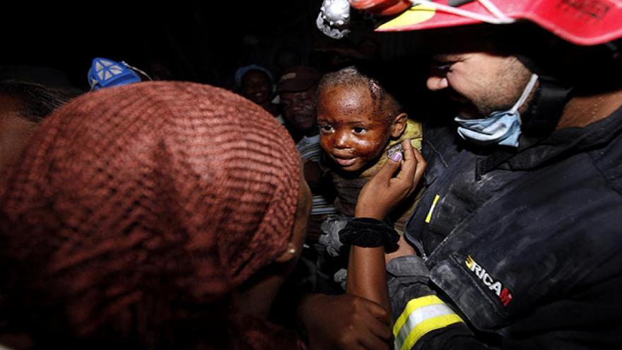 Bomberos en Haití