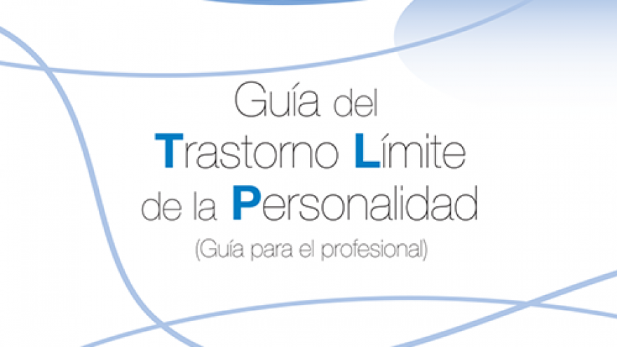 dibujo geométrico de la portada del manual de la guía para el trastorno límite de personalidad