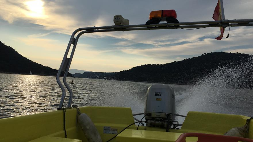Imagen de una embarcación del operativo