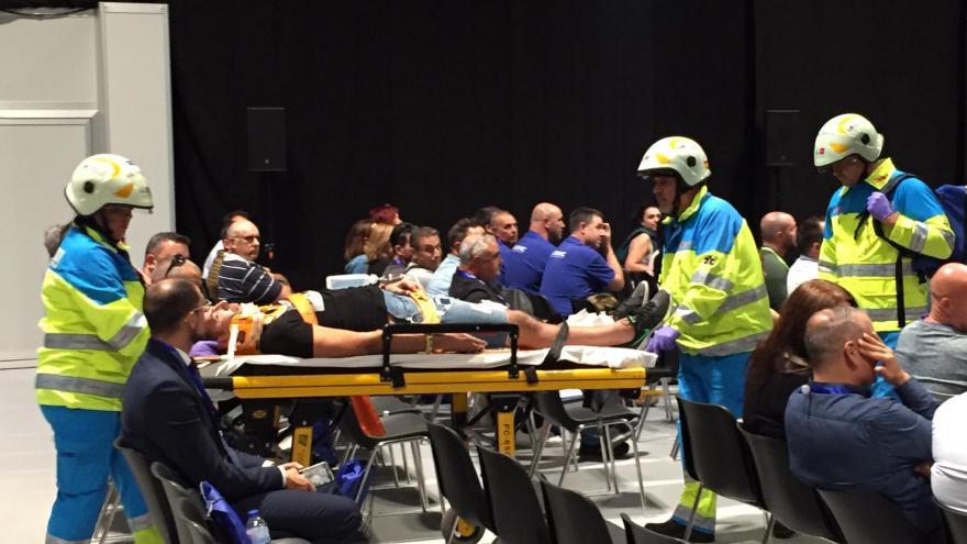 Profesionales del SUMMA 112 participan en el ejercicio práctico