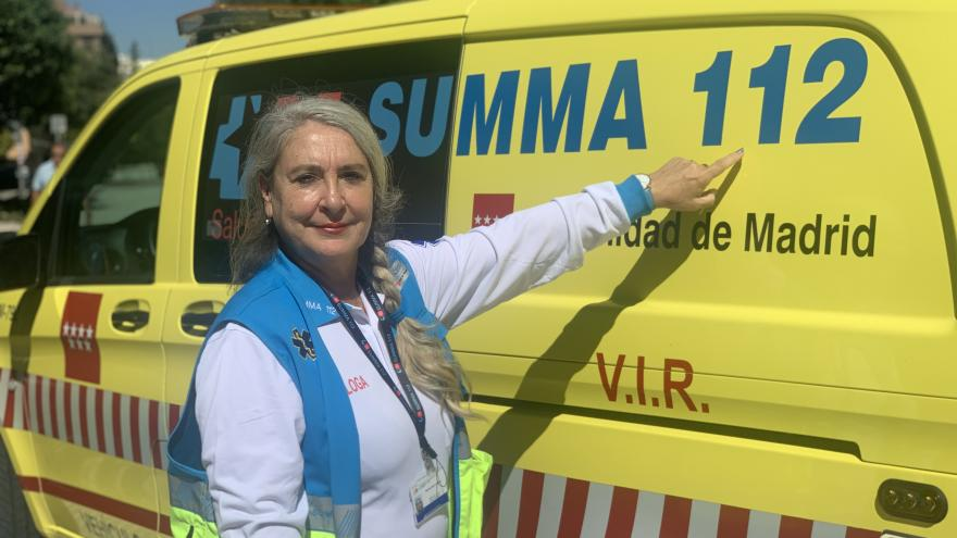 Una de las psicólogas clínicas del SUMMA 112