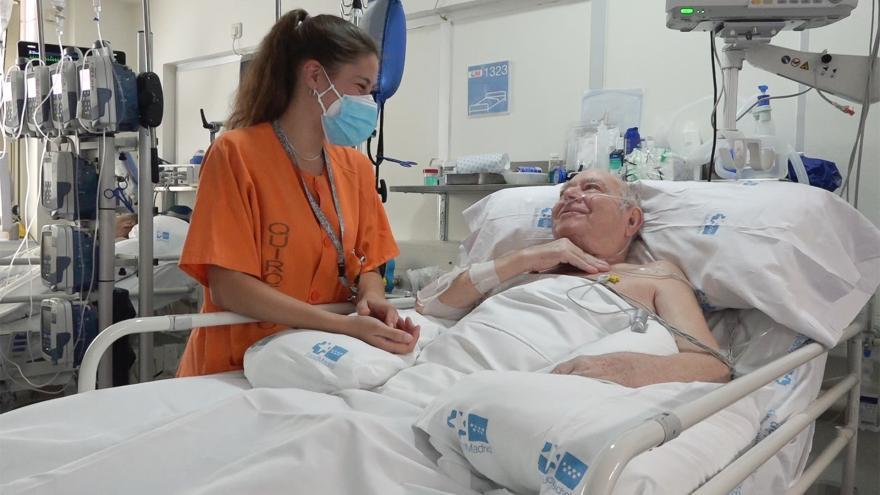 Enfermera y paciente