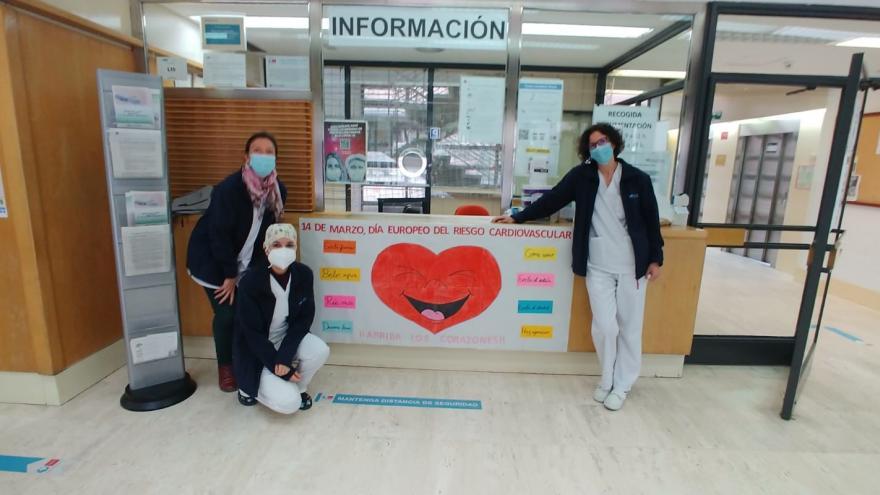 El Centro de Salud Doctor Cirajas celebra con un gran mural el Día Europeo de Prevención del Riesgo Cardiovascular