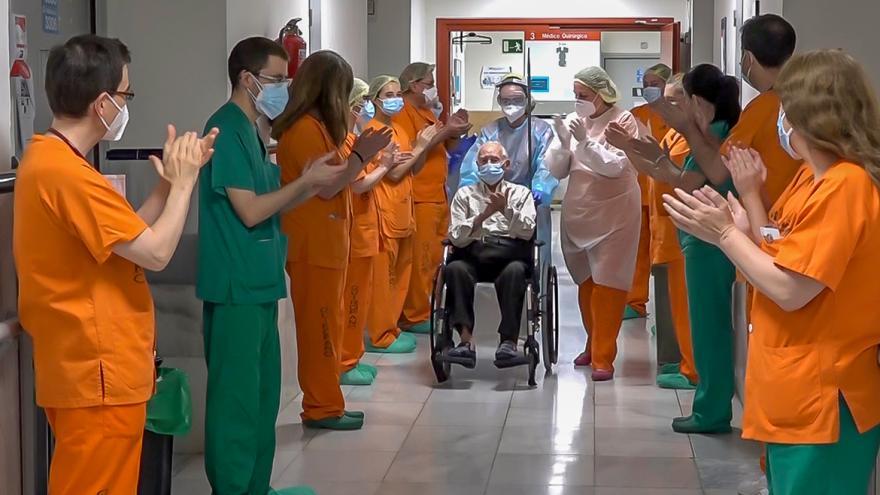 salida de paciente por alta covid