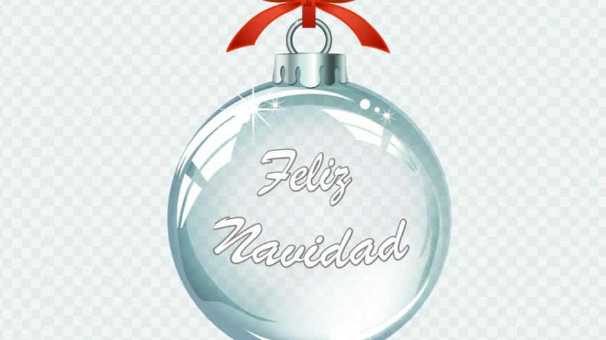 Bola de Navidad con lema Llénala de vida