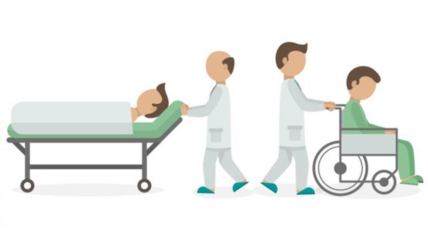 Dibujos de celadores con pacientes