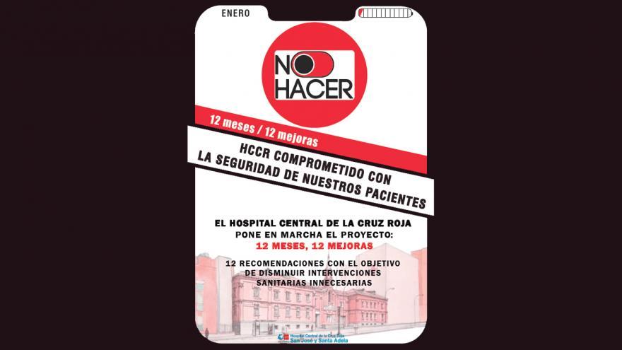 """El Hospital de la Cruz Roja inicia el Proyecto """"No Hacer 2020: 12 meses, 12 acciones de mejora"""""""