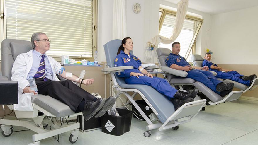 Donantes de sangre en el Hospital Gregorio Marañón