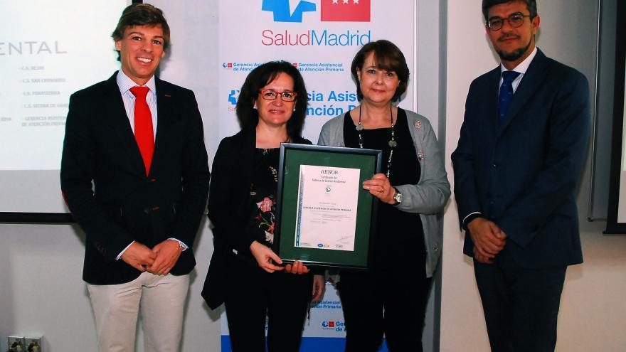La Gerencia de Atencion Primaria recibe certificado Aenor por su programa medioambiental