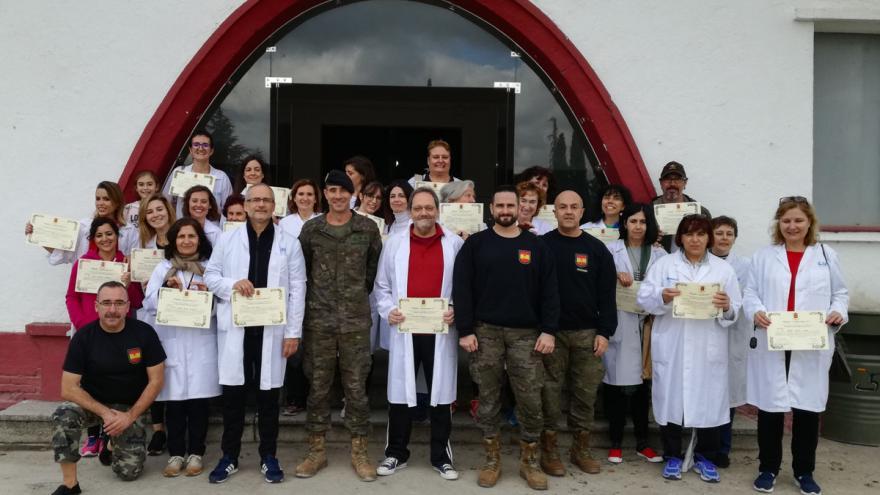 El Ejército de Tierra forma en prevención de situaciones conflictivas a profesionales del Centro de Salud La Chopera