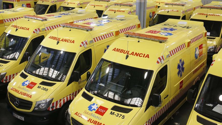 Imagen de la flota de ambulancias de traslado urgente