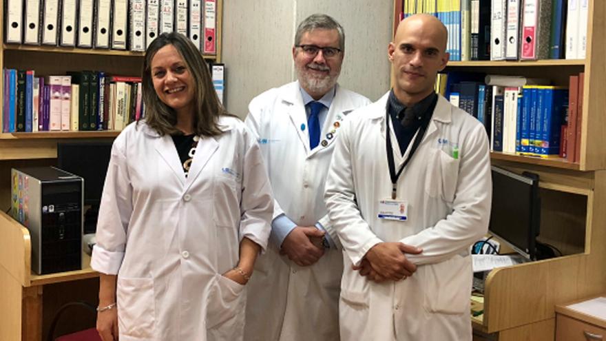Izq a dcha: Dra Nattero, Dr Escobar-Morreale y Dr Luque del Servicio de Endocrinología del Hospital Universitario Ramón y Cajal